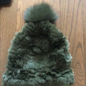 Green fur hat